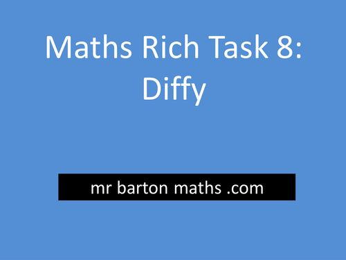 Rich Maths Task 8 - Diffy