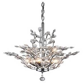 Watch your home's wow factor grow when you decorate it with this Warehouse Of Tiffany Chandelier Ceiling Lights - Light Sliver. Inspired by the outdoors, this silver and clear crystal light fixture branches out with plenty of sparkle and elegance. Constructed of metal, this chandelier has branches adorned with crystal teardrop-shaped leaves that glisten when the nine-bulb light glows. Hang this sophisticated ceiling light over your dining table or in your entry way to impress your g...