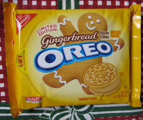 Limited Edition Gingerbread Oreo Package--I bought these last year--be on the lookout for these again 'cause they're AWESOME and I'm not a fan of frankenfood or oreos, but sometimes you cave
