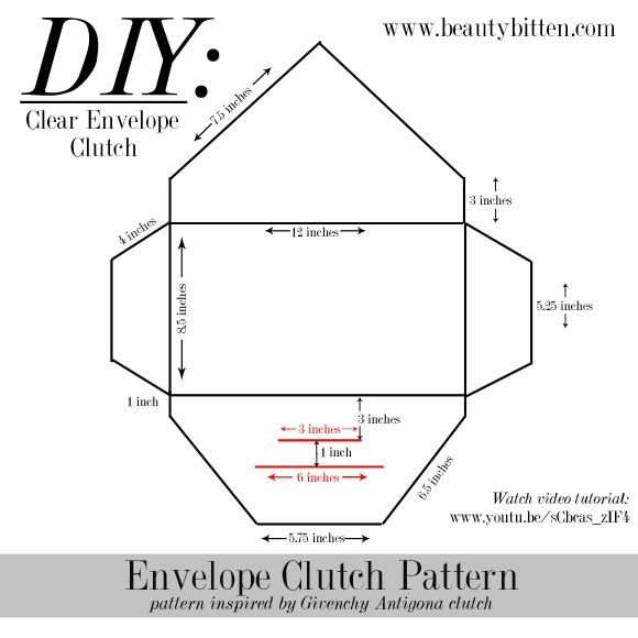 beautybitten | a personal style & beauty blog : DIY: Clear Envelope Clutch