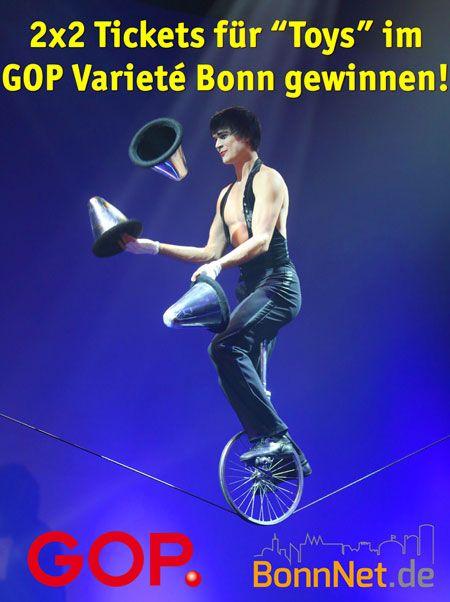 """2 x 2 Freitickets für die neue Show """"Toys"""" im GOP Varieté Theater Bonn zu gewinnen!"""