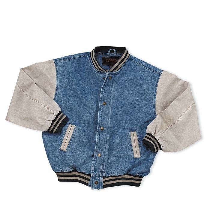 Men S Washed Vintage Denim Varsity Jacket Trendwave Basicjacket Vintage Jacket Men Vintage Jacket Outfit Vintage Denim Jacket