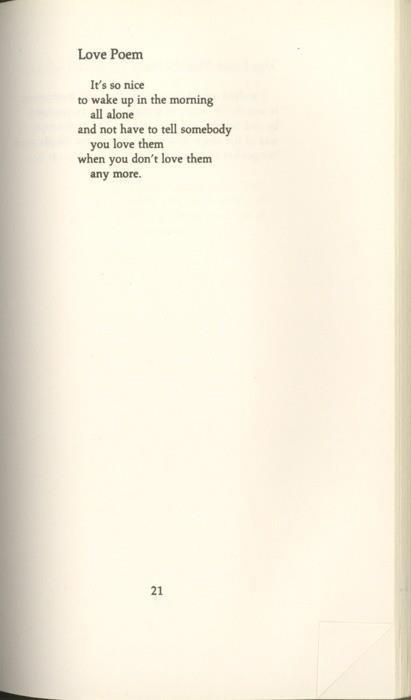 Love poem, Charles Bukowski