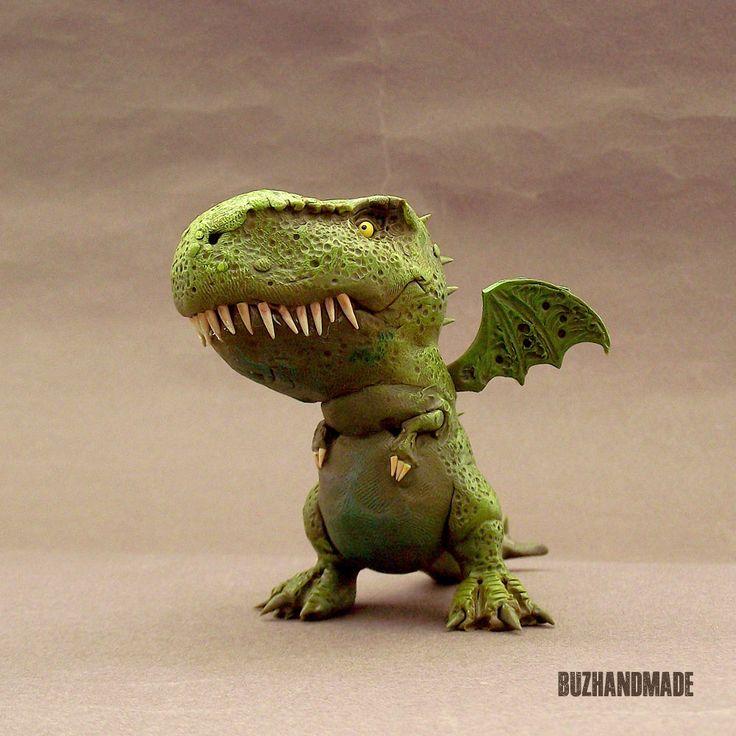Mini Dragon 3D number #39 | BUZHANDMADE