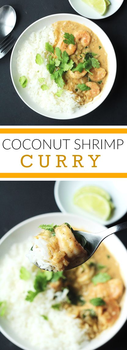 A rich and delicious coconut curry with shrimp and coriander leaves! Inspired by Thai, Southeast Asian flavours. An asian comfort food recipe!