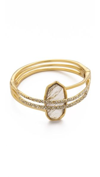 Alexis Bittar Double Ringed Labrodorite Bracelet