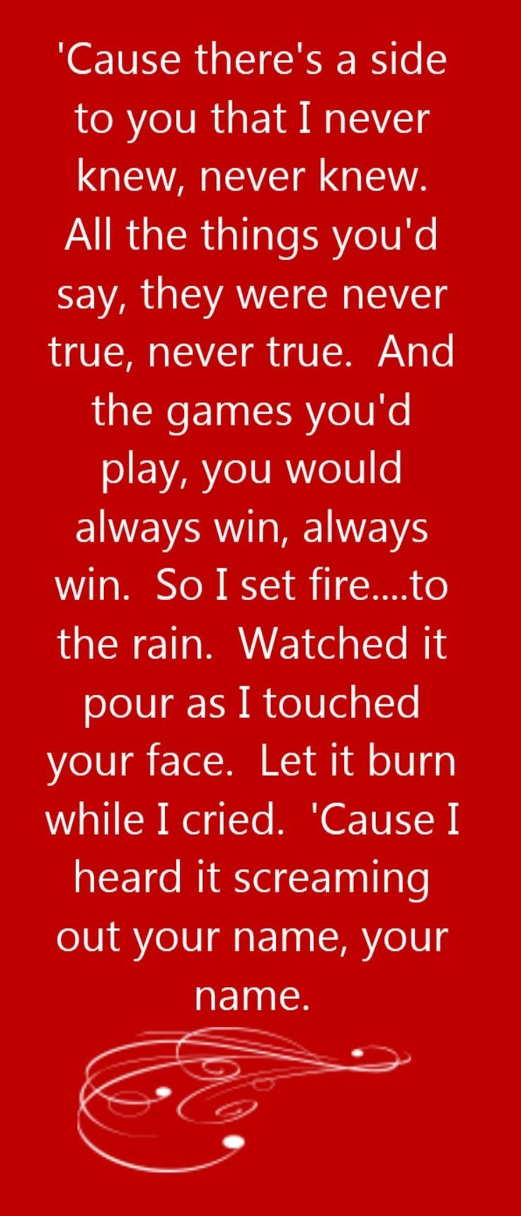 Adele - Set Fire To The Rain - song lyrics, song quotes, songs, music lyrics, music quotes,