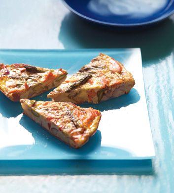 salmon and asparagus frittata- epicurious         Salmon and Asparagus Frittata Recipe  at Epicurious.com