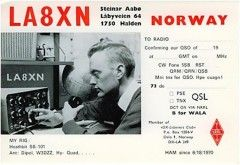 LA8XN QSL Silent Key but very active in many radio--He also worked with local radio and was the first who started this in 1971 to add more photos here from the time