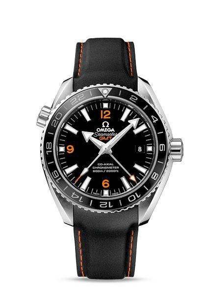 OMEGA Watches: Seamaster Planet Ocean 600 M Omega Co-axial GMT 43.5 mm - Steel on rubber strap - 232.32.44.22.01.002