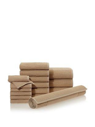 65% OFF Chortex Oxford 16-Piece Bath Towel Set, Linen