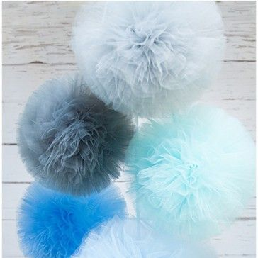 "Pompony tiulowe ""BLUE MOON"""