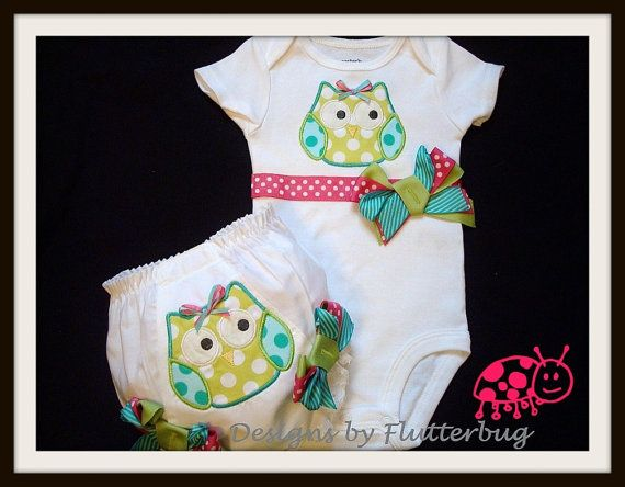 BLOOMER AND BODYSUIT Set  Apple Green and by Designsbyflutterbug, $31.95