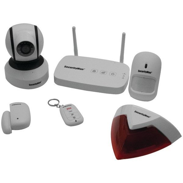 SECURITYMAN IWATCHALARMD1 App-Based Wireless Home Security Alarm System with Pan-Tilt Wi-Fi IP Camera