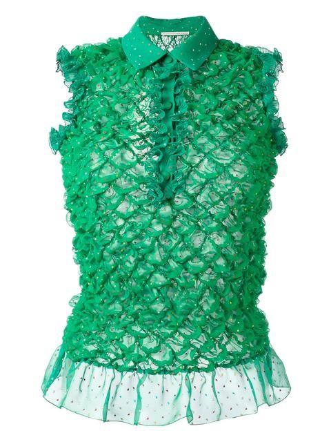 Marco De Vincenzo фактурная блузка с оборками