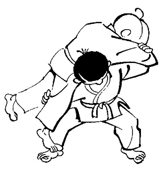judo kids coloring page