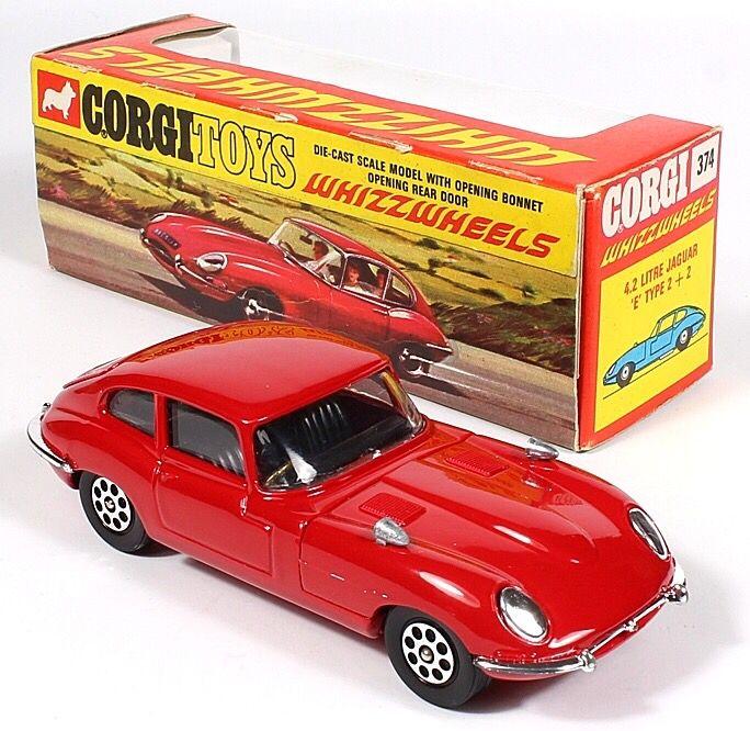 Corgi Toys 374 Jaguar 2+2 Whizzwheels MIB Pic by QualityDiecastToys.com