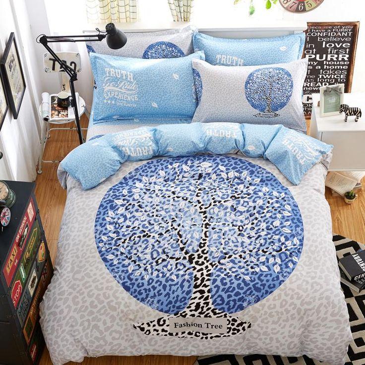2017 fashion trees nordic bedding set 4pcs
