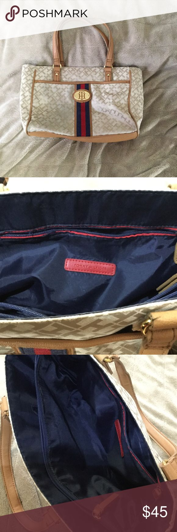 Tommy Hilfiger Tote In good condition. Would go well with Tommy Jeans! Tommy Hilfiger Bags Totes