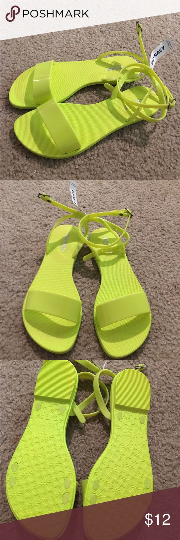 NWT Neon Sandals Neon flat sandals Old Navy Shoes Sandals