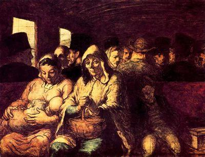 Vagón de tercera clase  Daumier - (Honore Daumier)