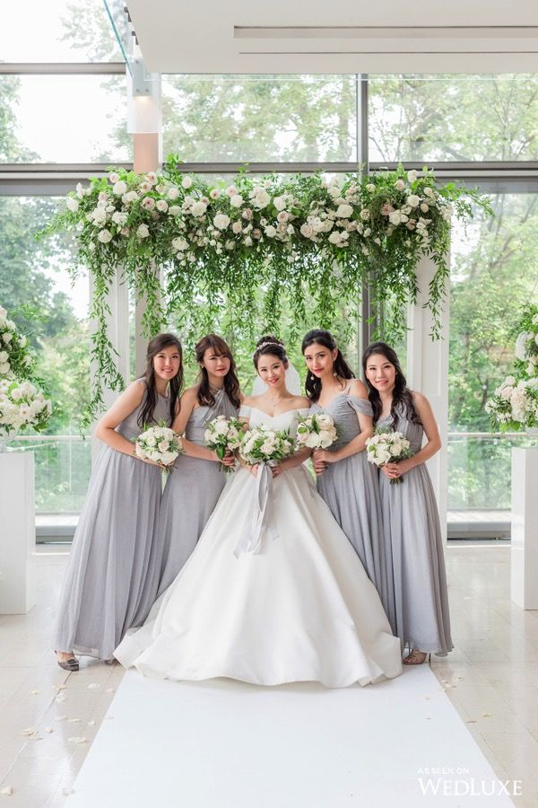 These Bridesmaids Dresses Are So Pretty Wedluxe Secret Garden Sophistication Photography By One And Only Studio Follow W In