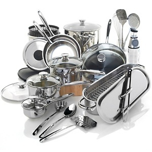 Wolfgang Puck Bistro Elite 29-piece Stainless Cookware Set at HSN.com. - I just ordered these!