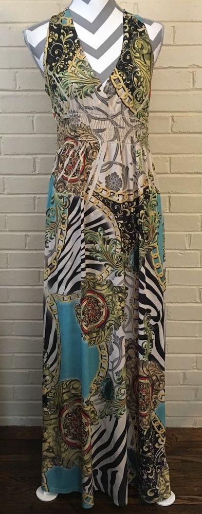 Luxe Design Maxi Dress by Fresh of La Size Ladies Medium with Racerback | eBay