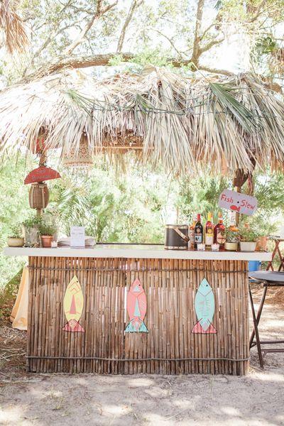 Tiki Bar. Casual Wedding by 13:13 Photography and Yoj Events « Southern Weddings Magazine