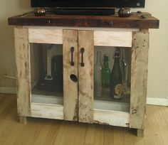 antique tv stand ideas | Rustic tv stand media console cabinet handcrafted by JRustic, $530.00 ...