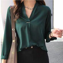Tienda Online Tops y blusas de gasa para mujer blusa de otoño para mujer Camisa…