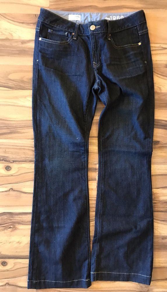 Gap 1969 Women's Dark Wash Jeans Sz 6 Bootcut 28 Long Lean    eBay