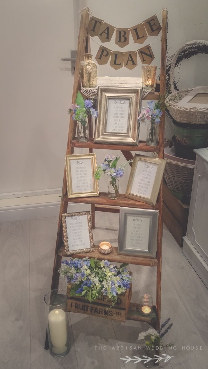 Rustic ladder table plan package for hire from www.theartisanweddinghouse.com