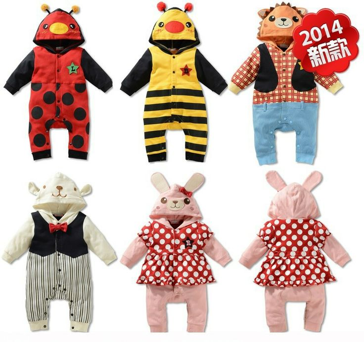 Baby Romper! Free shipping ! 2014 spring new baby cartoon images long-sleeved Romper  GTJ-L0044 US $111.70