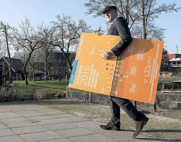 De eerste #zaaikalender is uitgereikt aan burgemeester van Langedijk: Hans Cornelisse. Je kunt de kalender downloaden op onze website en je ontvangt hem wanneer je ons museum bezoekt! www.broekerveiling.nl