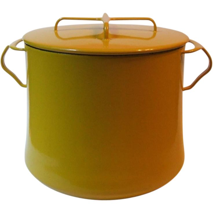 Vintage Dansk Kobenstyle Yellow 7 Qt Stock Pot Enamel on Metal France from Missing Memories at 50% Off During The 72 Hour Ruby Red Tag Sale Event Beginning Wednesday, Dec. 2nd (8am PST) #rubyredtagsale #rubylane