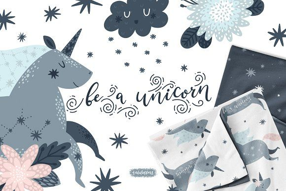 d32d4d7b26187 Sign up here to get this! Unicorns Illustrations   Patterns by tatiletters  on  creativemarket