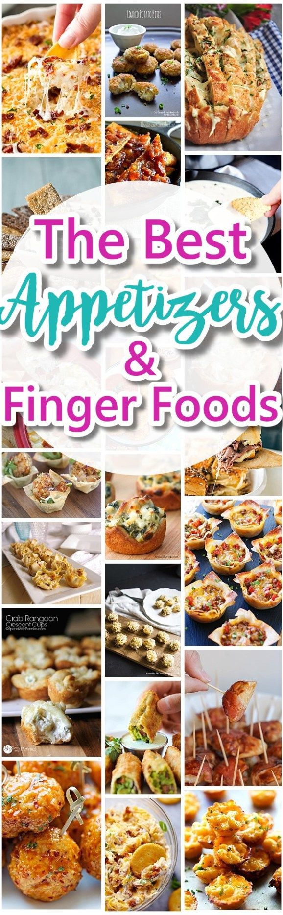 The Best Easy Party Appetizers, Hors D'oeuvres, Delicious Dips and Finger Foods Recipes - Quick family friendly snacks for Holi