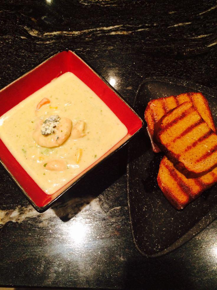Yummy prawn and chicken spicy Thai soup