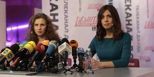 Les deux membres des Pussy Riot libérées cette semaine ont tenu une conférence de presse à Moscou vendredi 27 décembre.