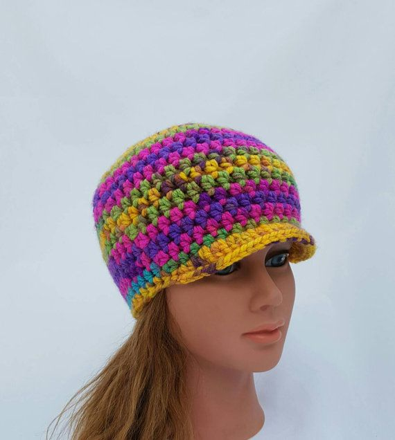 Check out this item in my Etsy shop https://www.etsy.com/ca/listing/467727778/womens-hat-girls-beanie-with-brim