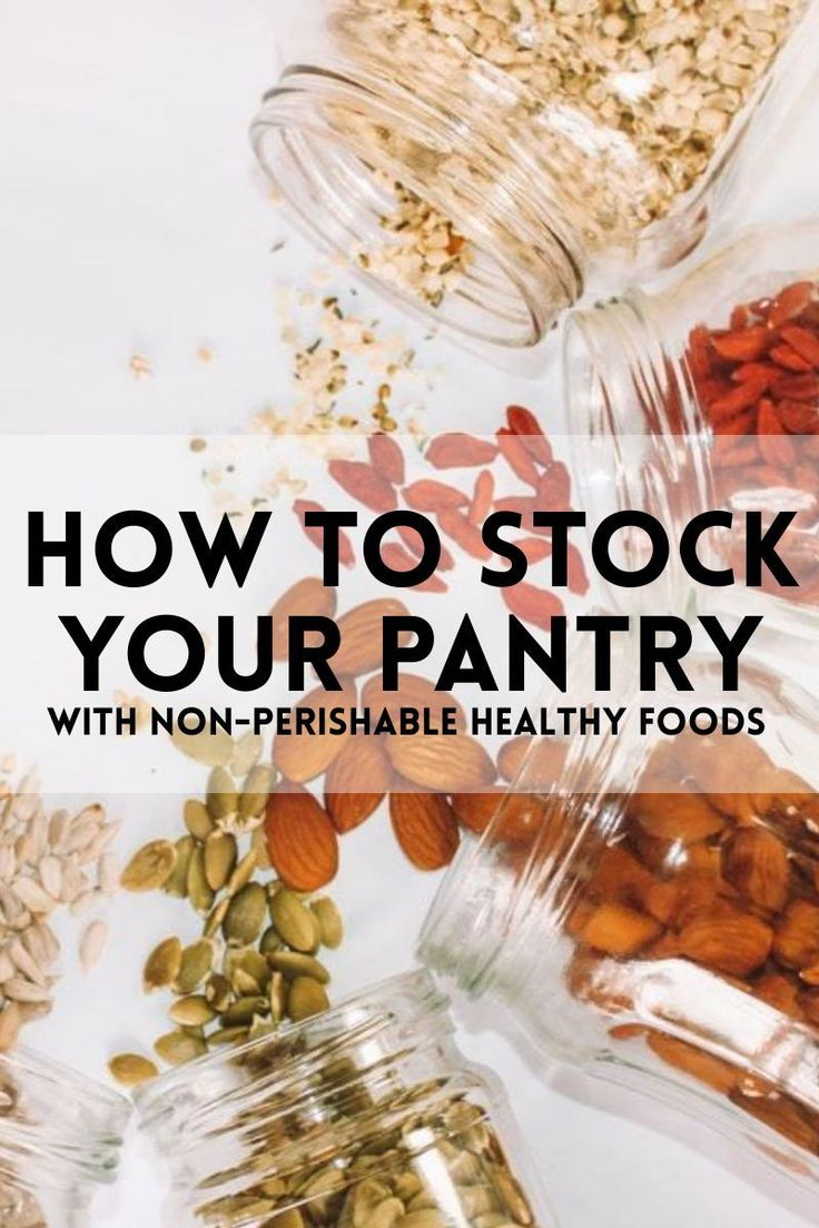 Do you have nonperishable healthy foods in your pantry