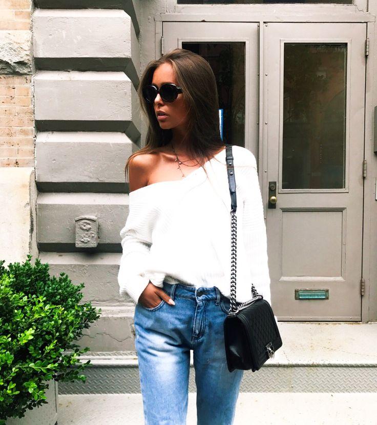 Indeholder reklame links / Knit from Nelly ( here ), Jeans from Asos ( here ), Sunglasses from Asos ( here ) and Bag from Chanel Godmorgen girls. Jeg har lavet