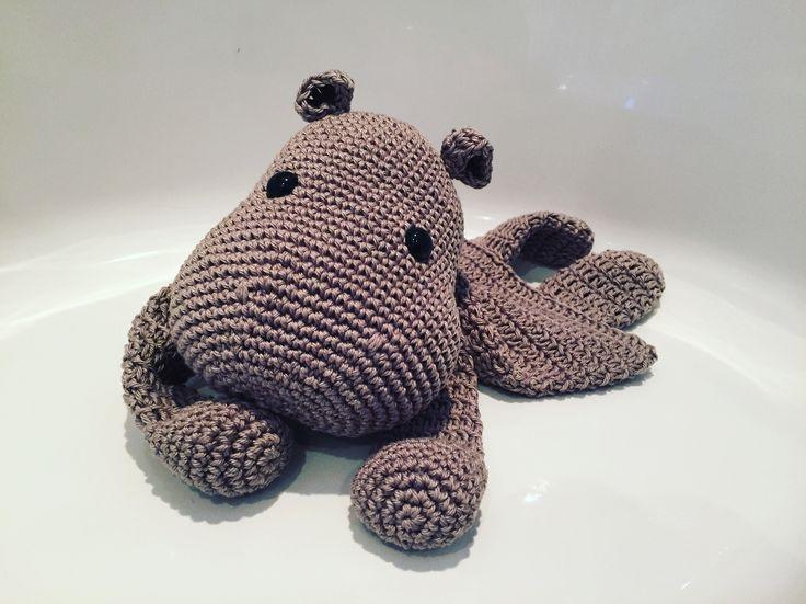 Gehaakte nijlpaard lappenpop