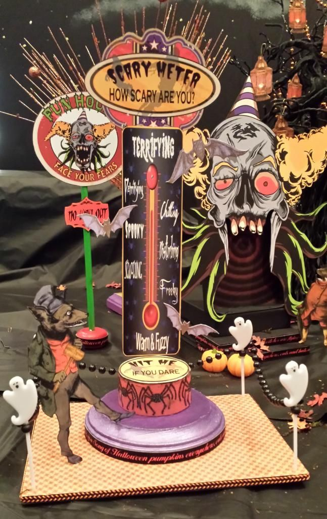 Test your scariness on the Scary Meter.  Artfully Musing: HALLOWEEN CARNIVAL EVENT – IS HERE!!! Join me on my blog for free video tutorials showing you how to create pieces for a Halloween Carnival, giveaways, and free images.