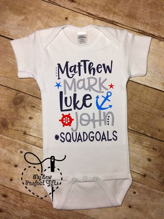 Baby Boy Biblical Onesie Matthew Mark Luke John squadgoals