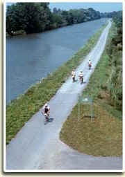 Erie Canal Trail 100 miles in Western New York.