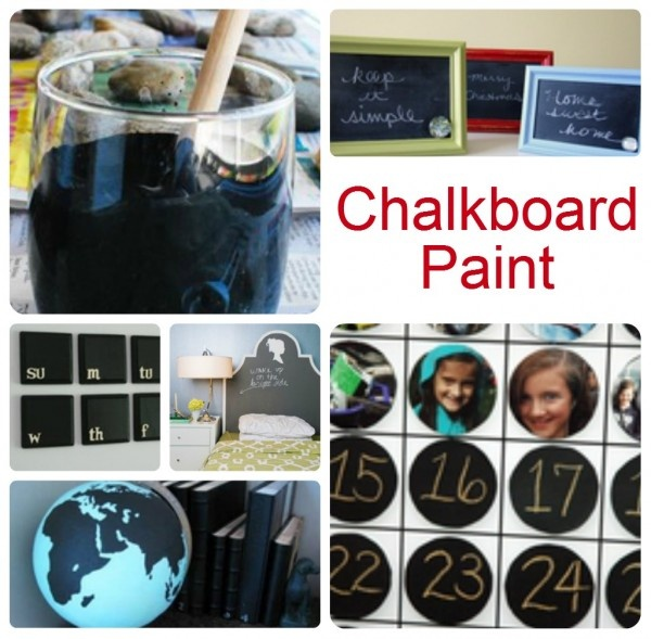 Chalkboard Paint Projects...Can't wait to try this out   ... from Somewhat Simple blog