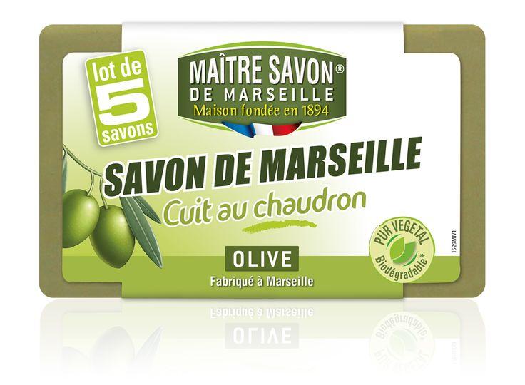Lot de 5 savons de Marseille Olive Maître Savon de Marseille