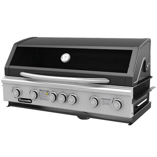Gasmate Specialist Built In 6 Burner  Exactly the same body as the Specialist 4 Burner BBQ. Approved for Natural Gas.  Space Saving roll back hood.